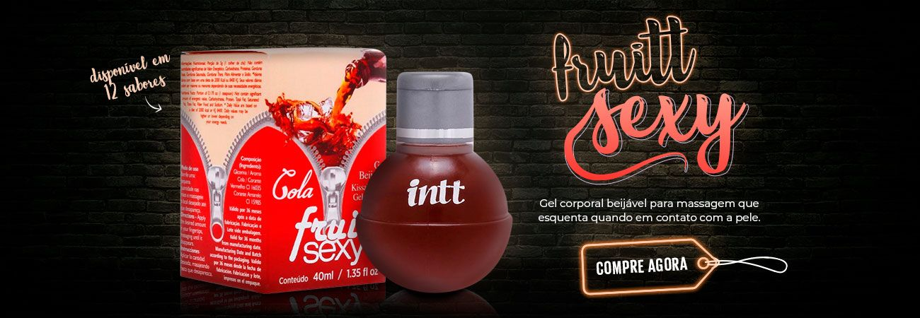 Gel comestível Fruitt Sexy Hot Intt