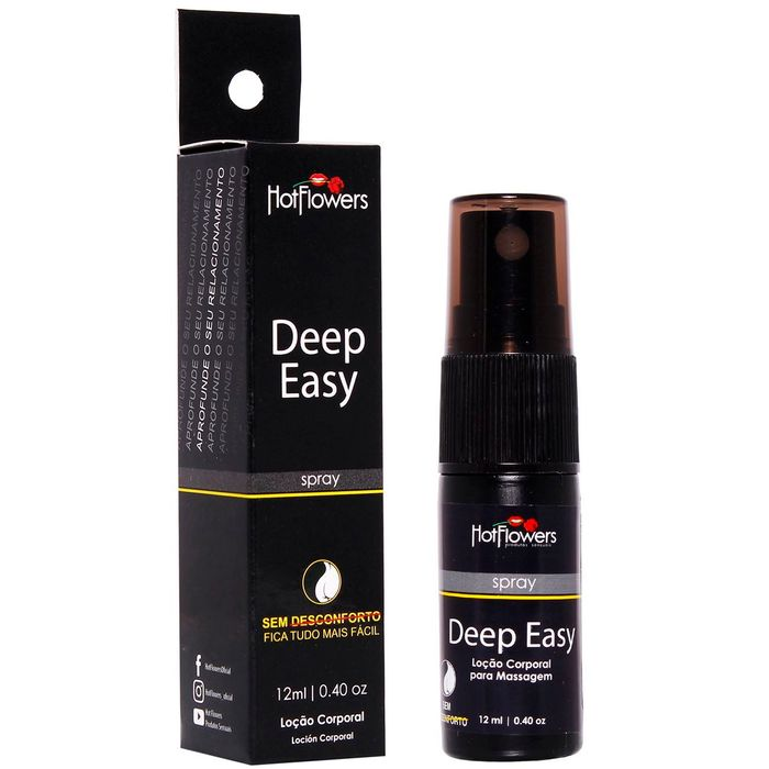 Deep Easy Loção Corporal Para Massagem Em Spray 12ml Hot Flowers