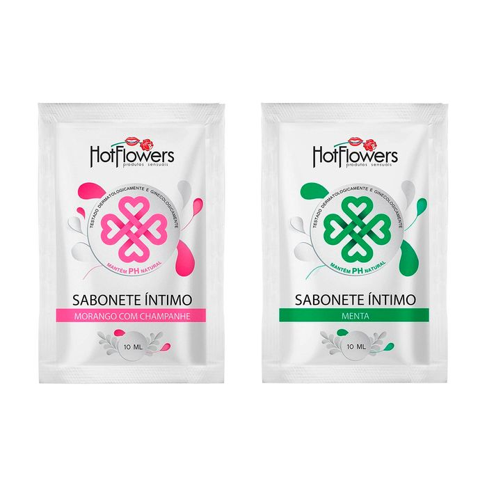 Sabonete íntimo Sachê 10 Ml Hot Flowers