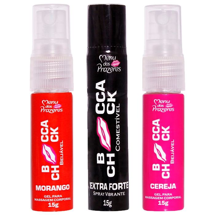 Booca Chock Beijável Spray 15ml Menu Dos Prazeres