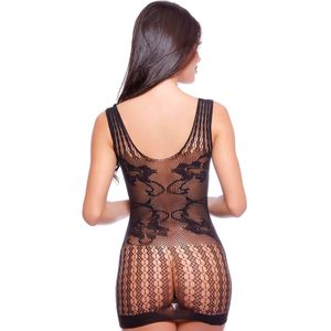 CAMISOLA ARRASTÃO RENDÃO BODY STOCKING