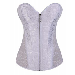 CORSELET COSTAS RENDA COM ZIPPER