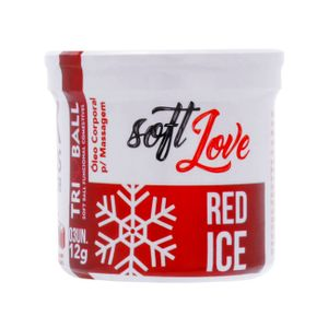 SOFT BALL RED ICE TRI BALL SOFT LOVE