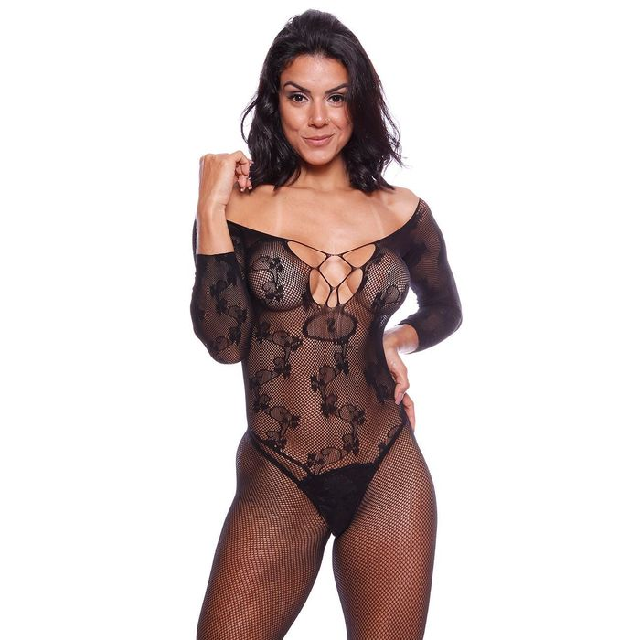 MACACÃO RENDADO JULIA BODYSTOCKING