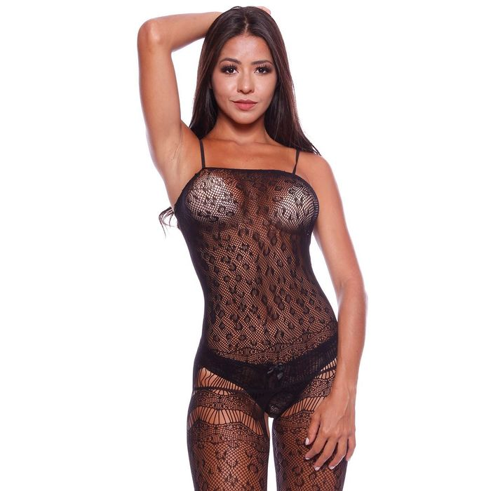 MACACÃO ANDRESSA RENDADO BODYSTOCKING