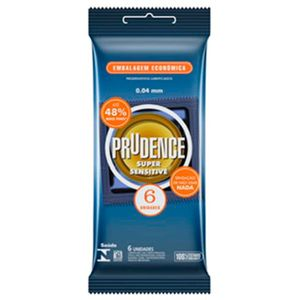 PRESERVATIVO SUPER SENSITIVE PRUDENCE 6 UNIDADES