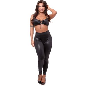 Top Ilhós E Calça Legging Dominatrix