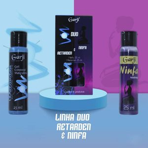 DUO RETARDEN E NINFA GEL PARA MASSAGEM 25ML GARJI
