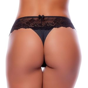 TANGA FIO DENTAL DUPLO LATERAL RENDA LARGA YULLY SENSUAL