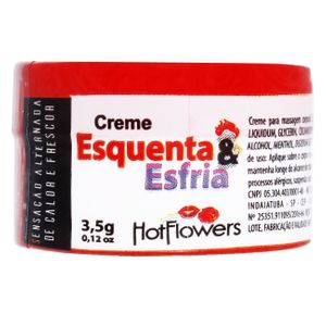 Esquenta E Esfria Creme Excitante 3,5g Hot Flowers