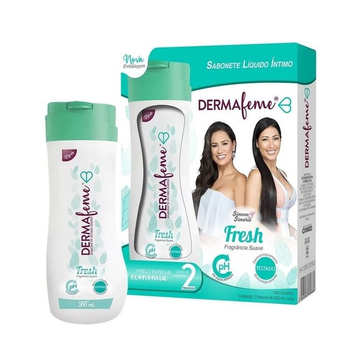 Kit Dermafeme Sabonete íntimo Fresh 200ml Cimed