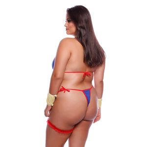 Fantasia Mulher Maravilha Plus Size Body Mil Toques