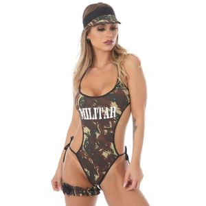 Kit Fantasia Militar Body Amareto