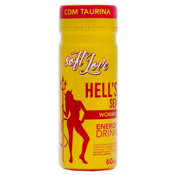 Hells Sex Woman Energy Drink Energetico 60ml Soft Love