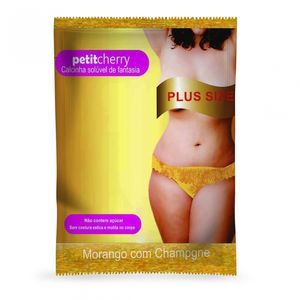 Calcinha Comestivel Metalic Plus Size Petitcherry