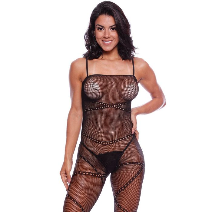 Macacão Rendado Suzy Bodystocking