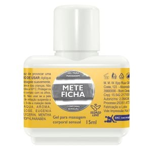 Mete Ficha Gel Prolongador De Ereção 15ml Secred Love