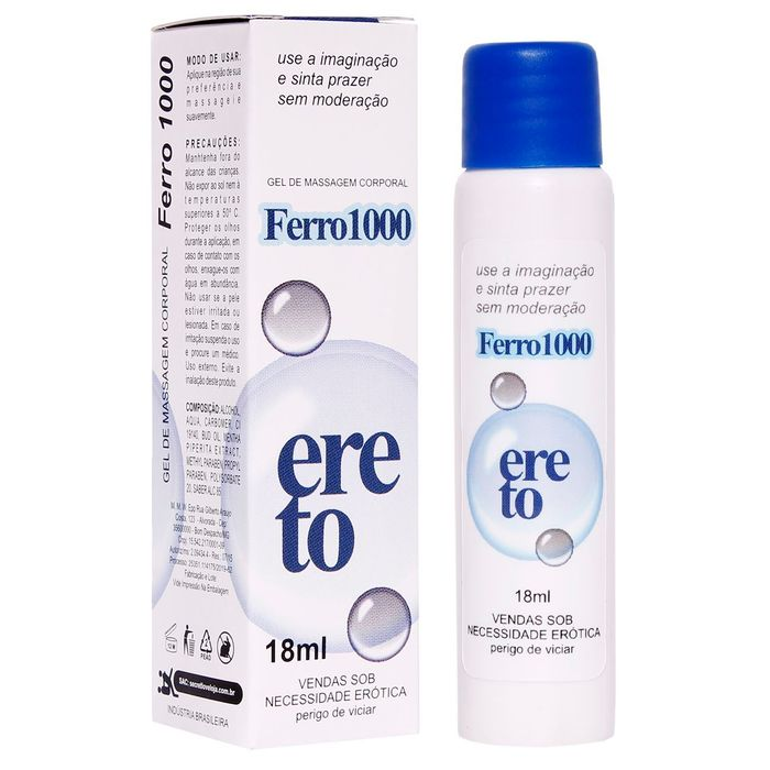 Ferro 1000 Ereto 18ml Farmacia Do Prazer Secret Love