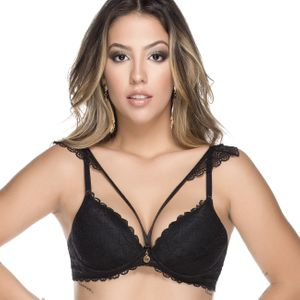 Sutiã Fashion Strapy Alça Removivel Renda Satin Nayane
