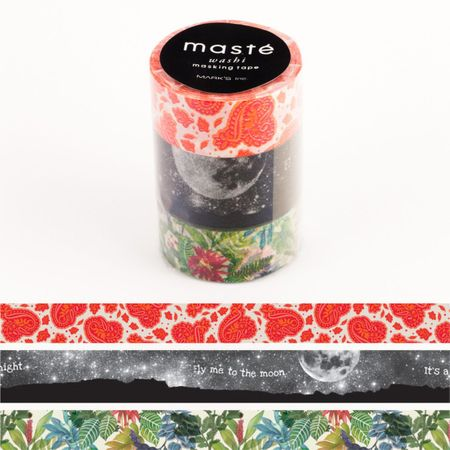 WASHI TAPE MASTÉ NATURE 1 (KIT C/ 3)