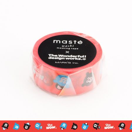 WASHI TAPE MASTÉ WONDER BEAR VERMELHA