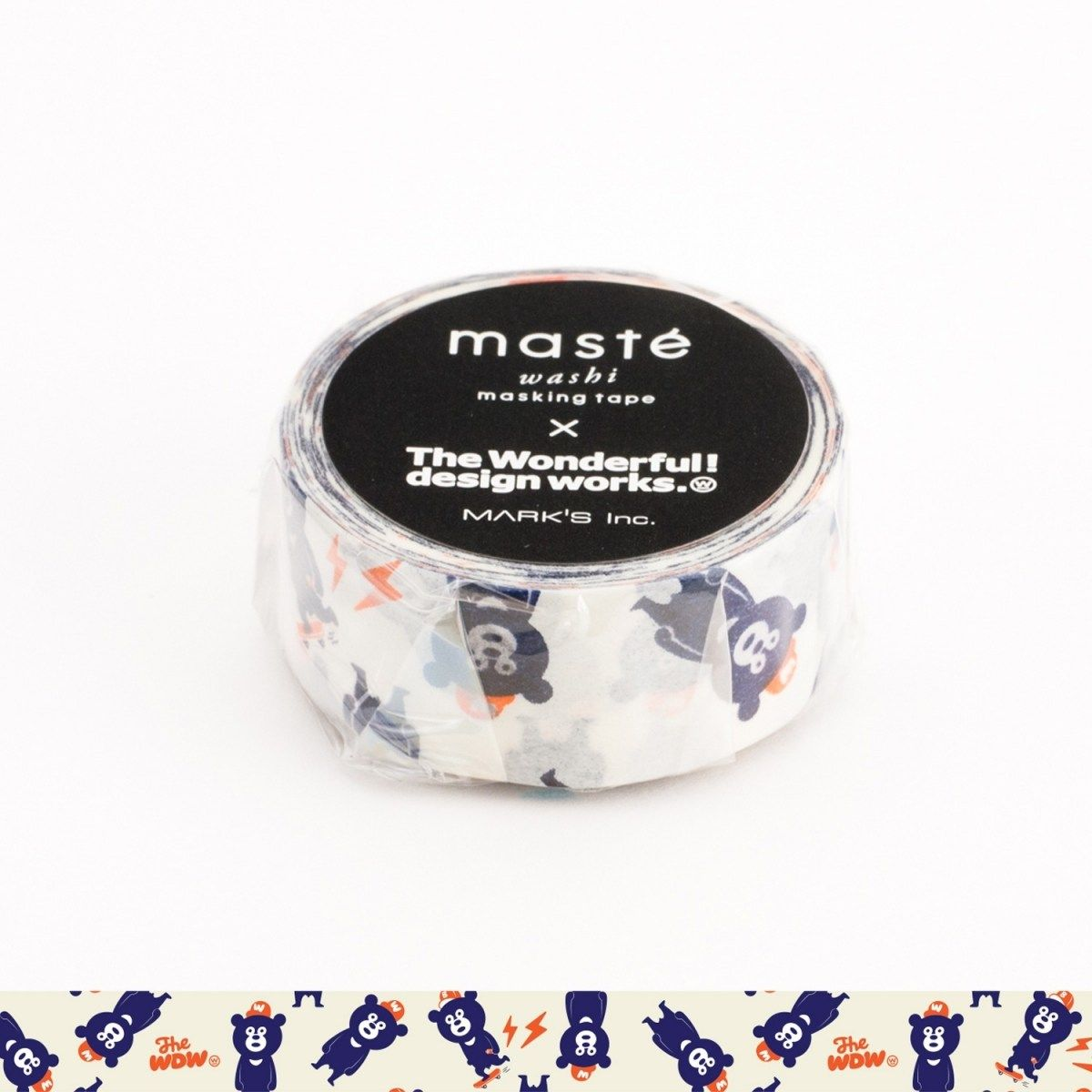 WASHI TAPE MASTÉ WONDER BEAR MARFIM