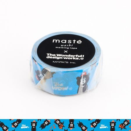 WASHI TAPE MASTÉ WONDER BEAR AZUL