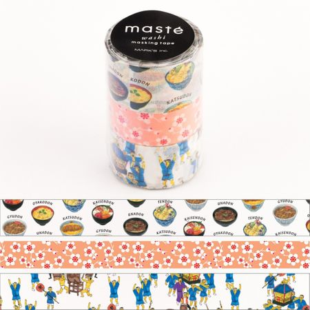 WASHI TAPE MASTÉ JAPAN 2 (KIT C/ 3)
