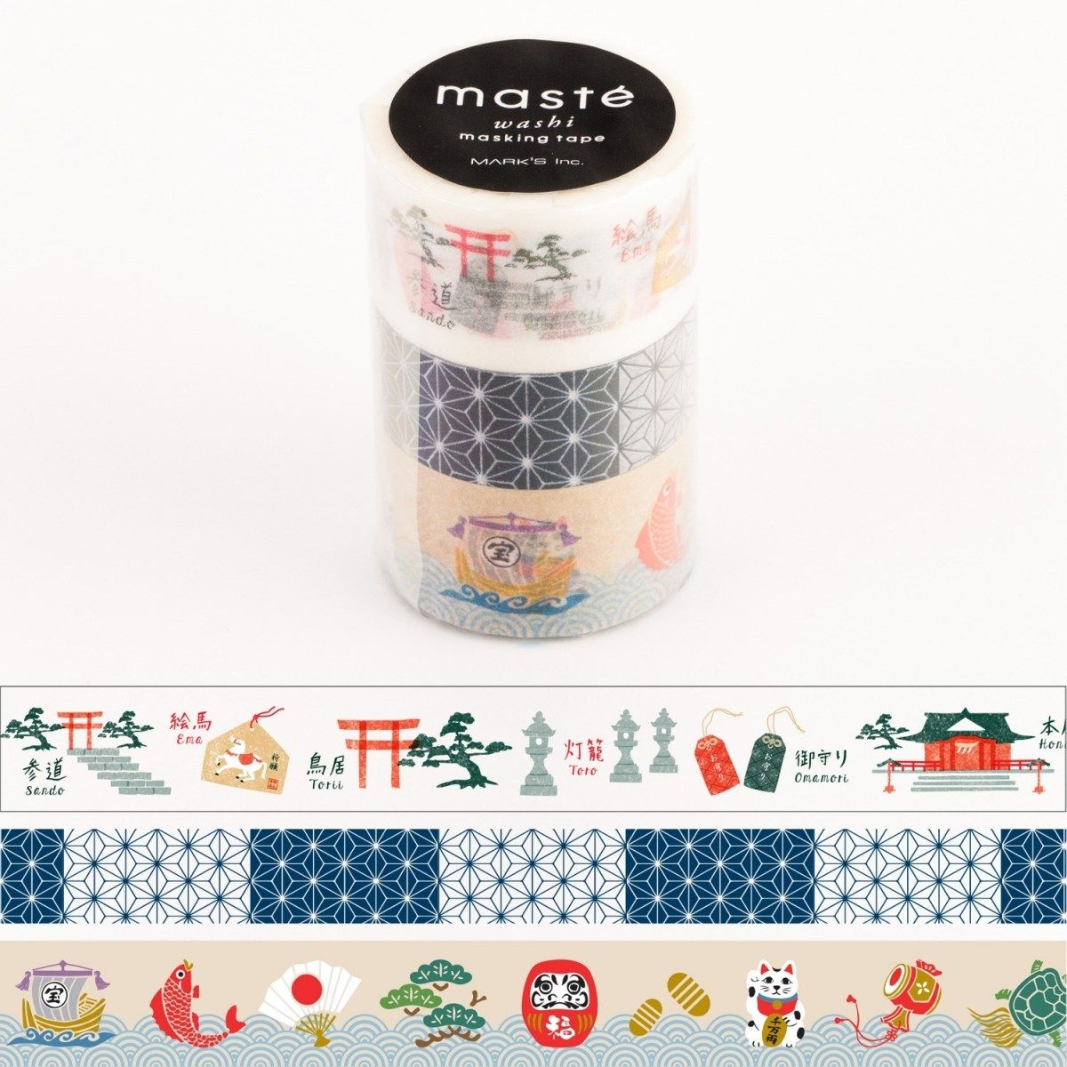 WASHI TAPE MASTÉ JAPAN 3 (KIT C/ 3)