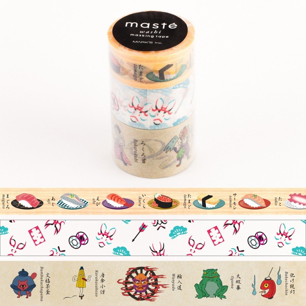 WASHI TAPE MASTÉ JAPAN 4 (KIT C/ 3)