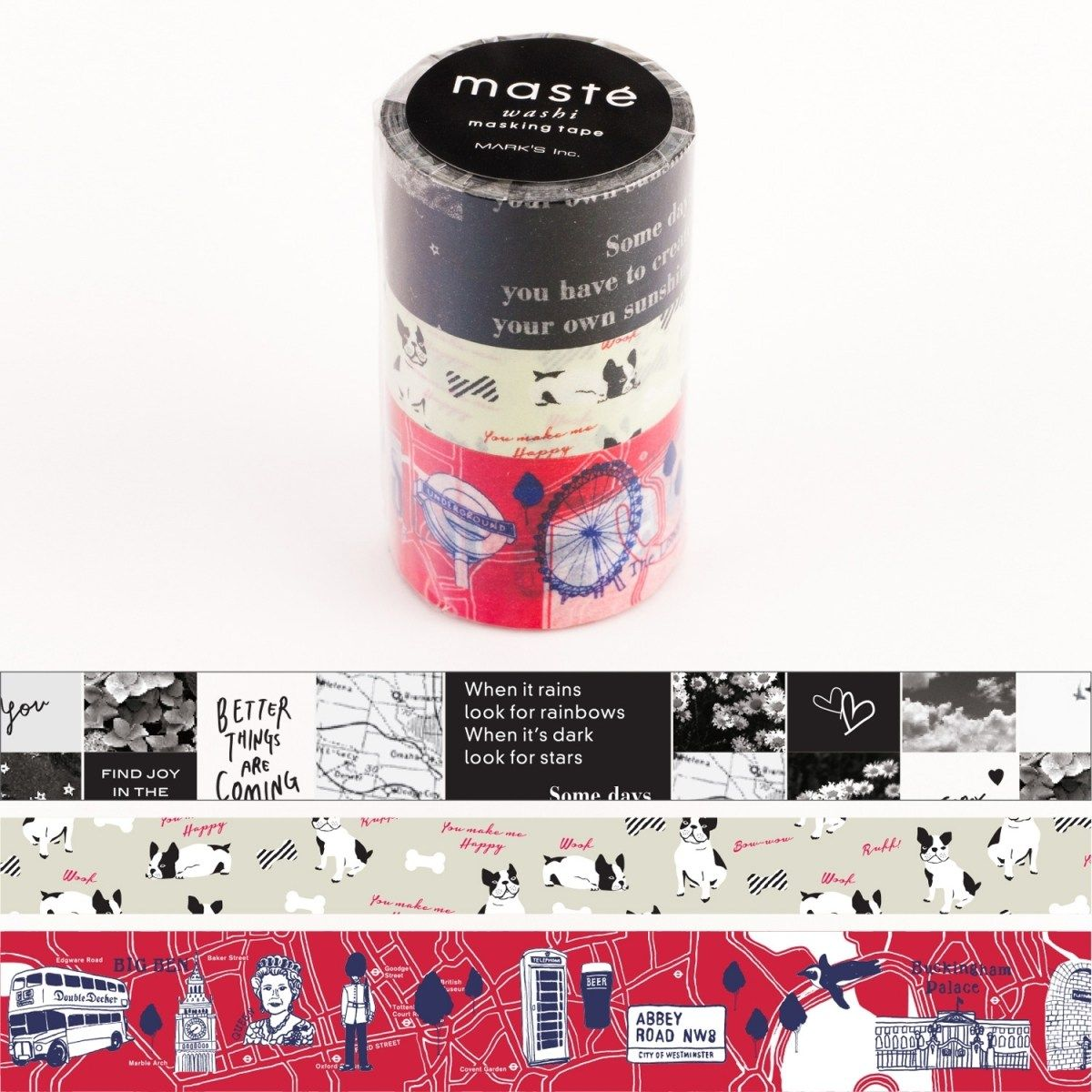 WASHI TAPE MASTÉ CITY 4 (KIT C/ 3)