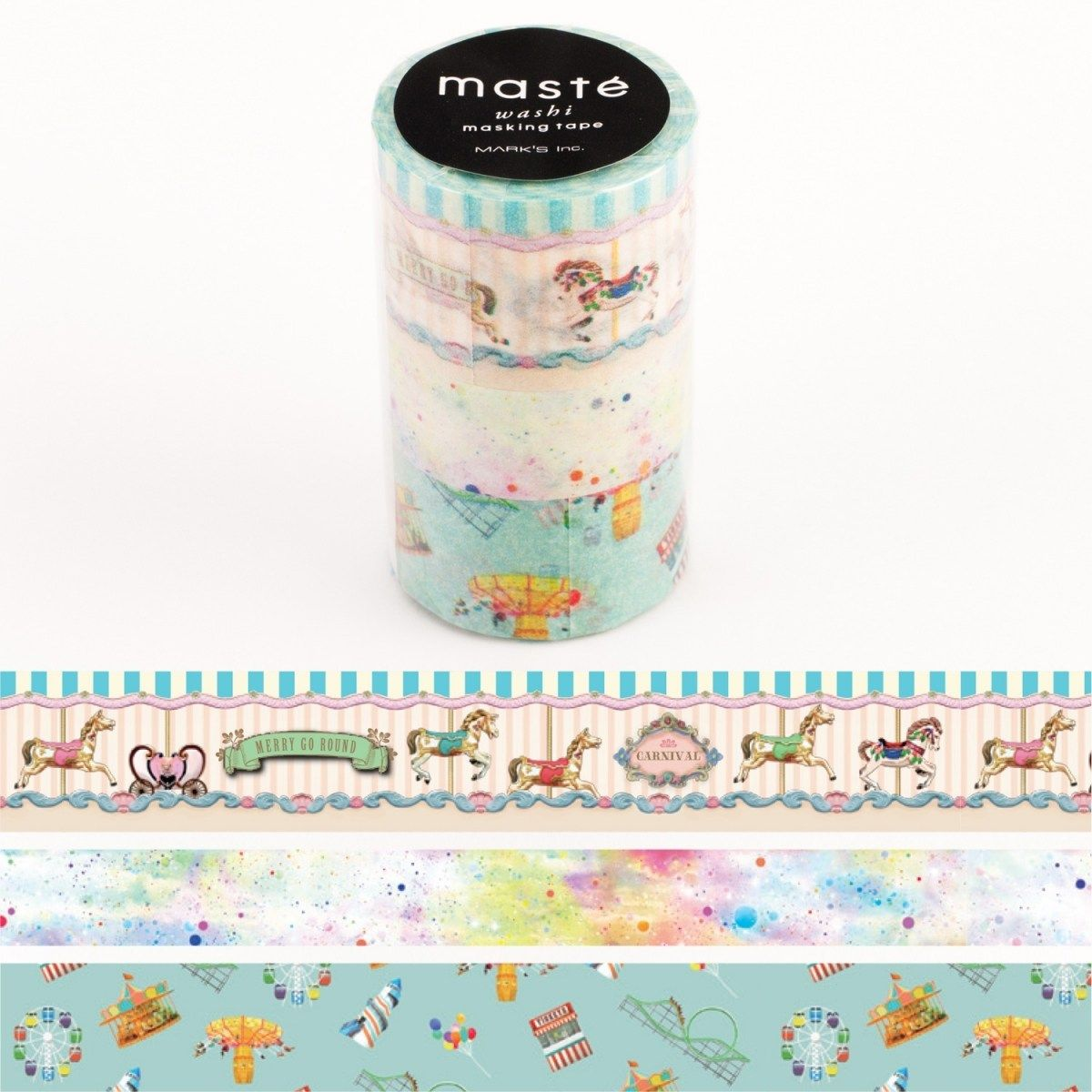 WASHI TAPE MASTÉ CITY 2 (KIT C/ 3)