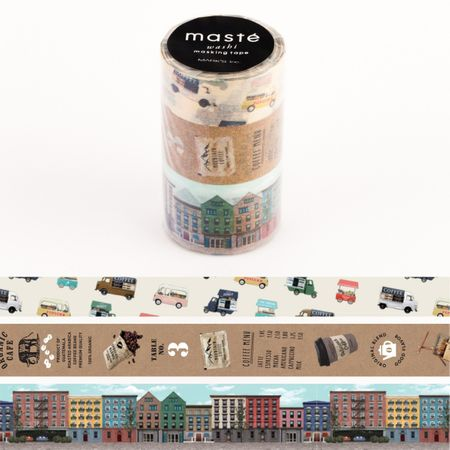 WASHI TAPE MASTÉ CITY 1 (KIT C/ 3)