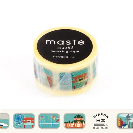 WASHI TAPE MASTÉ TRAIN LABEL