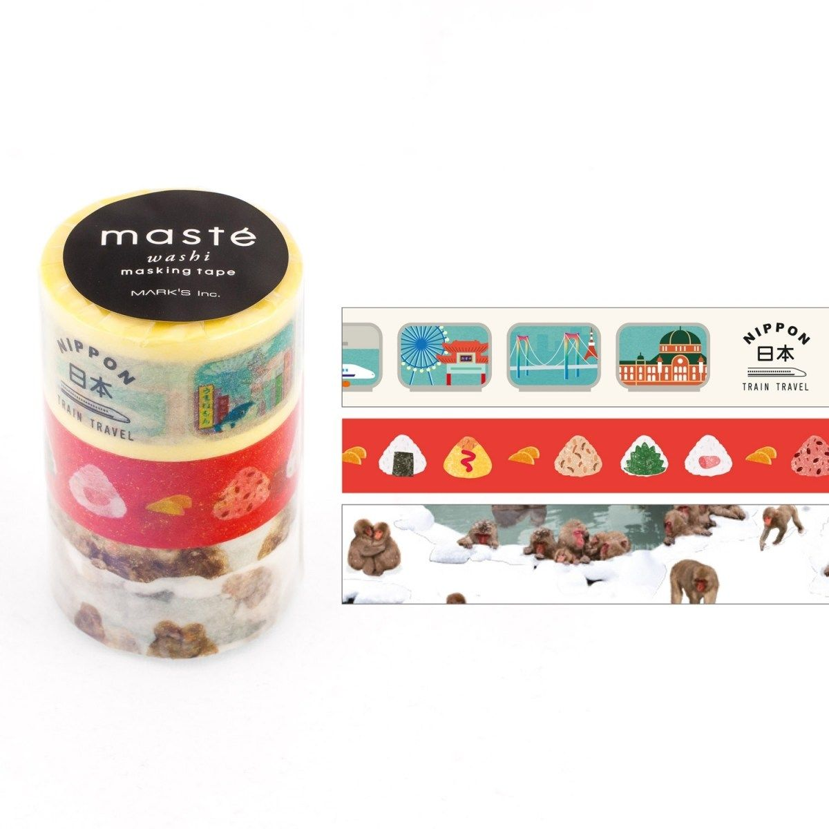 WASHI TAPE MASTÉ TRAVEL 1 KIT C/ 3