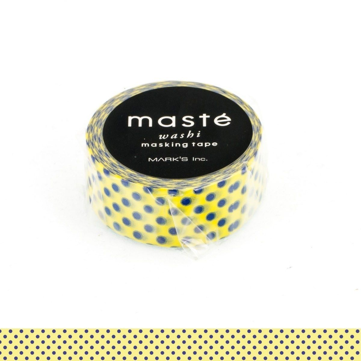 WASHI TAPE MASTÉ LIGHT YELLOW/DOT