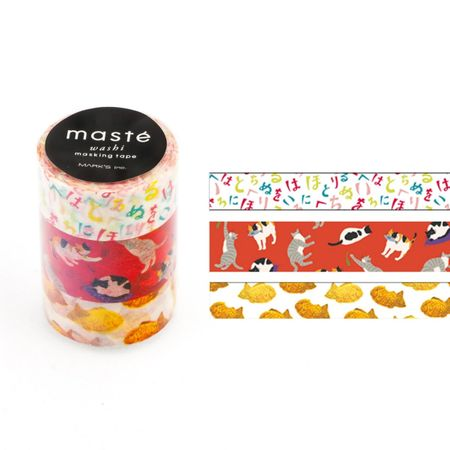 WASHI TAPE MASTÉ JAPAN 2.1 KIT C/ 3
