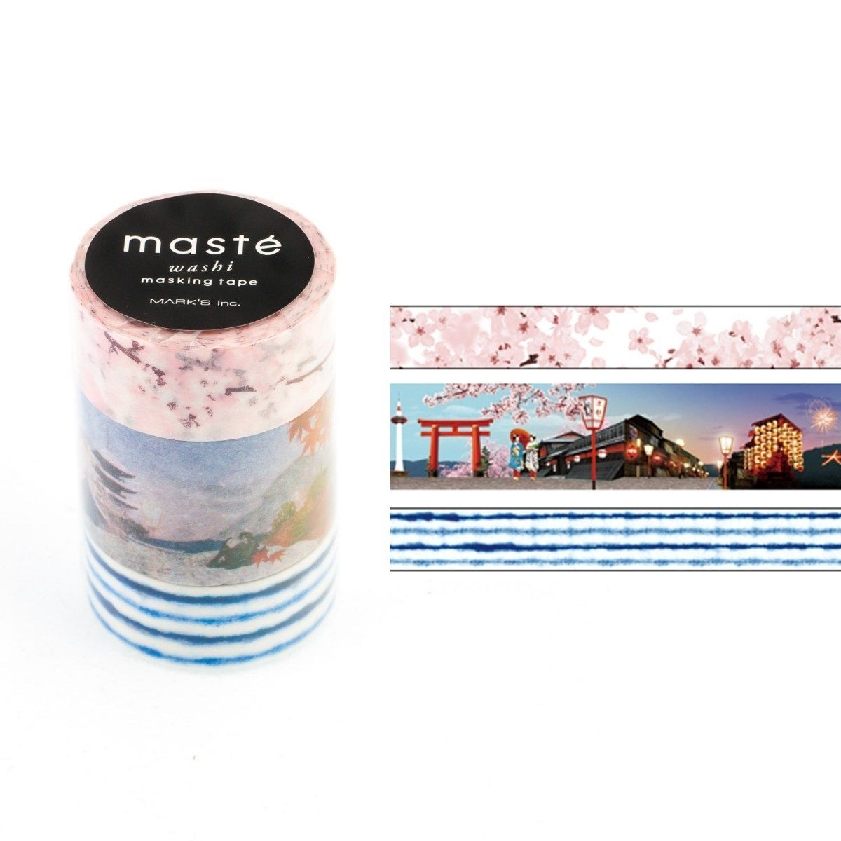 WASHI TAPE MASTÉ JAPAN 2.2 KIT C/ 3