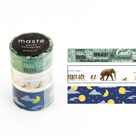 WASHI TAPE MASTÉ AMAZING LIFE 5 KIT C/ 3