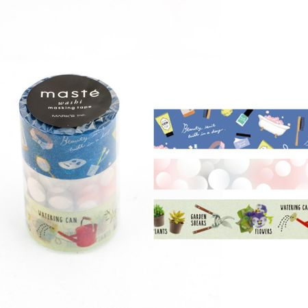 WASHI TAPE MASTÉ AMAZING LIFE 4 KIT C/3
