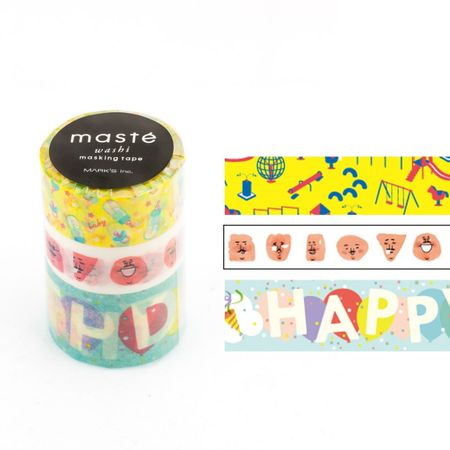 WASHI TAPE MASTÉ AMAZING LIFE 3 KIT C/ 3