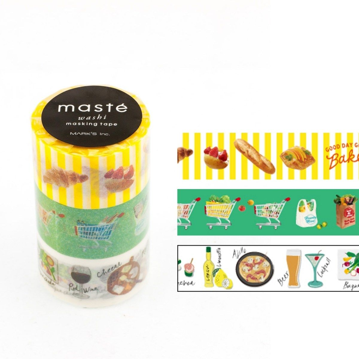 WASH TAPE MASTÉ AMAZING LIFE 2 KIT C/ 3