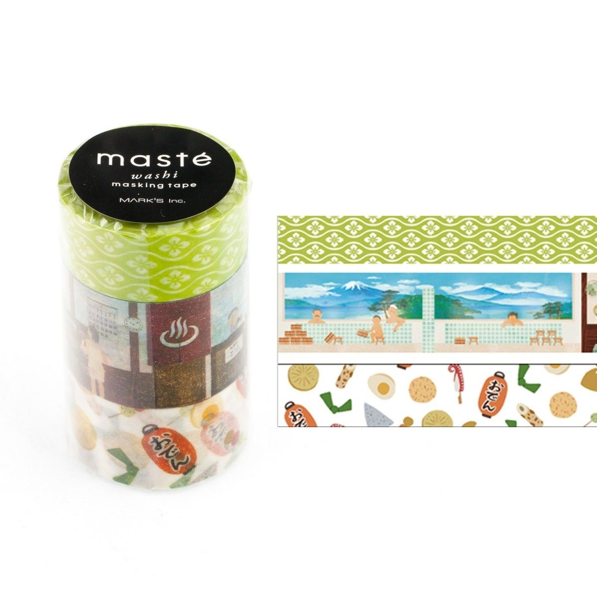 WASHI TAPE MASTÉ JAPAN 2.5 KIT C/ 3