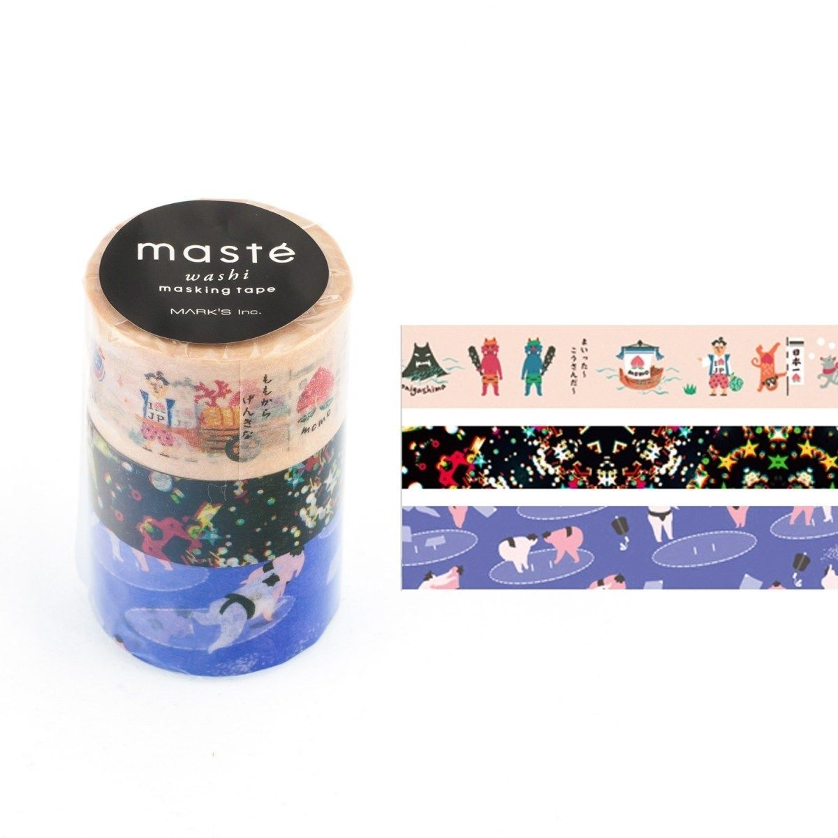 WASHI TAPE MASTÉ JAPAN 2.4 KIT C/ 3