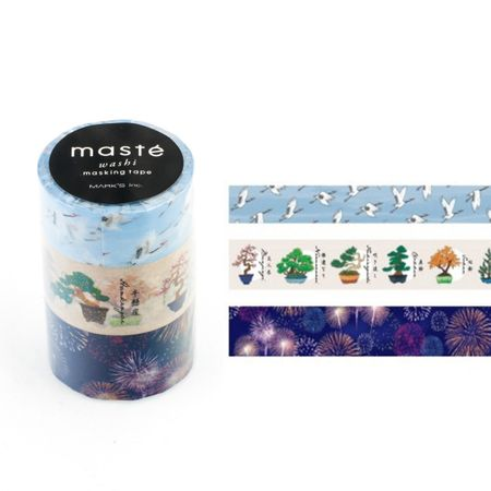 WASHI TAPE MASTÉ JAPAN 2.3 KIT C/ 3
