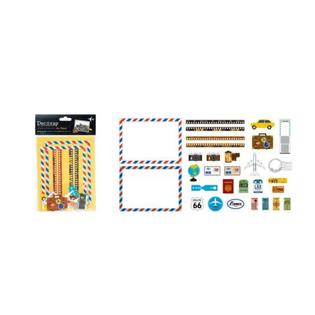 DECORAP KIT DE PAPEL DECORATIVO VIAGEM