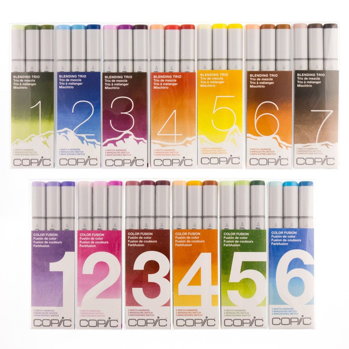 KIT COPIC SKETCH 3 CORES (VARIOS MODELOS)