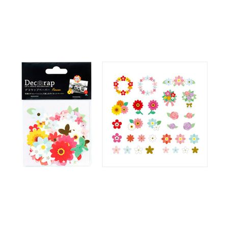 DECORAP KIT DE PAPEL DECORATIVO FLORES