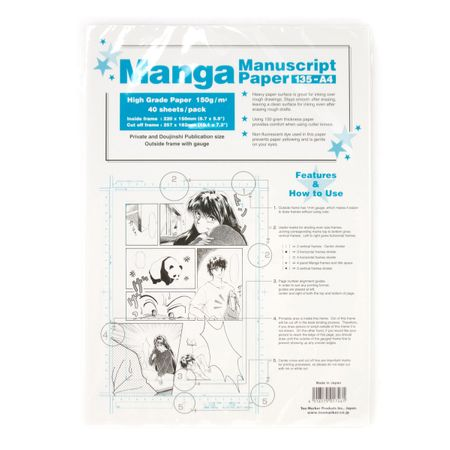 PAPEL COPIC MANGÁ MANUSCRIPT A4 150g/m² 40 FOLHAS