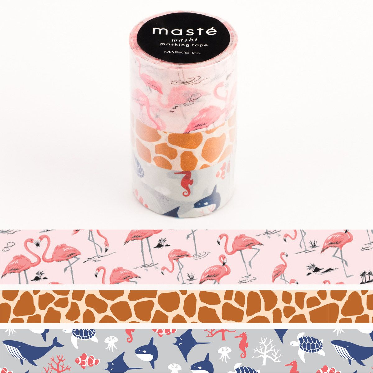 WASHI TAPE MASTÉ NATURE 4 (KIT C/ 3)